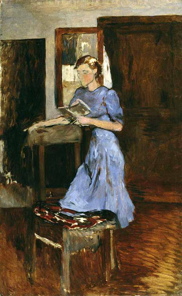 Картины молодая девушка в голубом пеньюаре - Фабрика картин