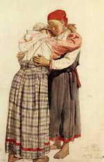 Две женские фигуры обнимающиеся