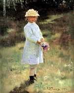 Девочка с букетом цветов вера репина