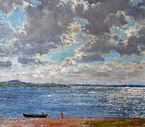 Artist: Eugene Ivanov.  Picture: Clouds over Seliger