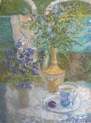 picture Still life with plums