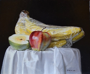 Artist: Valery Shishkin.  Picture: Bananas in package