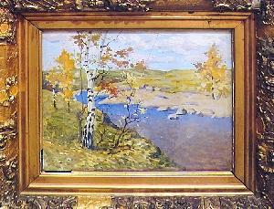 картина Пейзаж с рекой