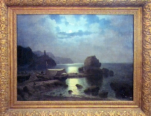 картина Море и маяк