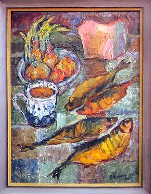 картина Натюрморт. Рыбы