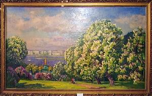 picture Kiev-Pechersk Lavra, chestnuts in blossom