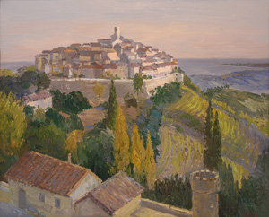 Artist: Andrew Kugaevsky.  Painting: Saint-Paul-de-Vence