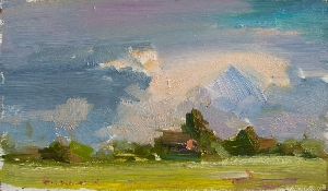 картина Облака над Старой Руссой