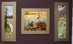 картина Триптих Тысяча озер