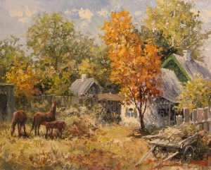 picture Autumn at the village