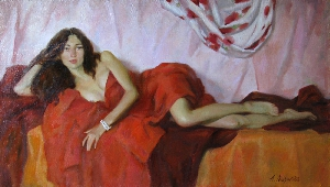 picture Woman in Red