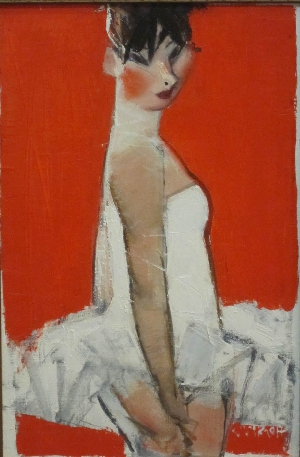 картина Балерина на красном