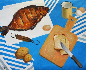 picture Still-life with smoked bream