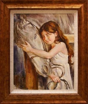 картина Девочка с лошадью