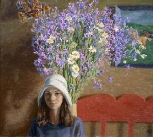 picture Girl with flowers